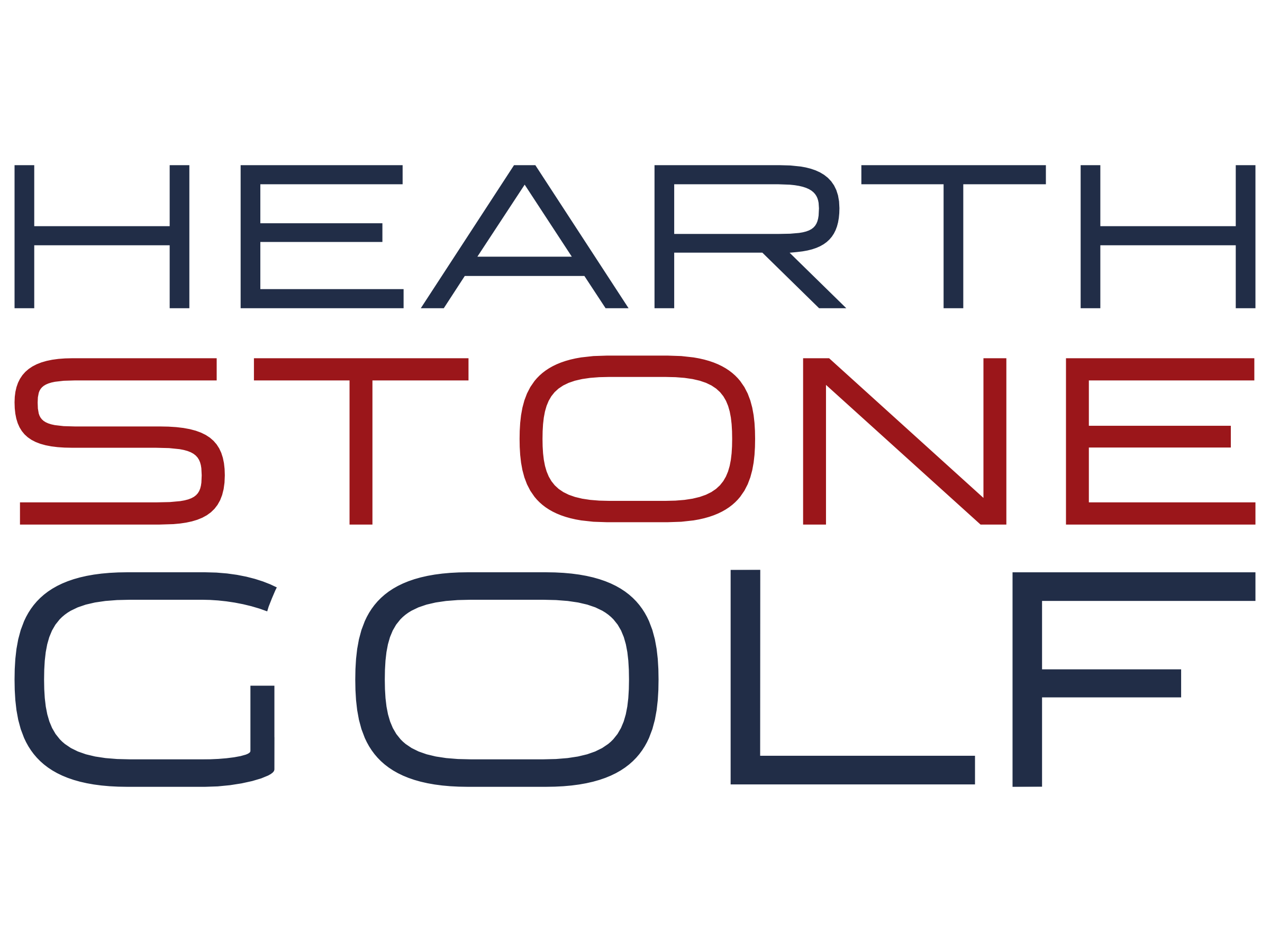 Hearthstone Golf Stack RWB Logo